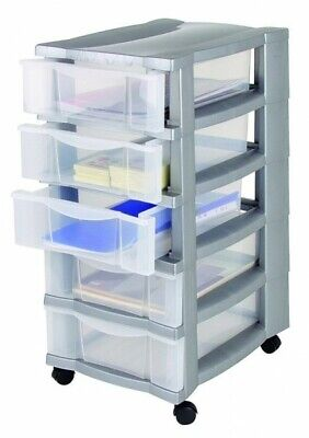 Drawer Cabinet Pedestal with Casters Rolls Tool Cabinet Office Filing Files