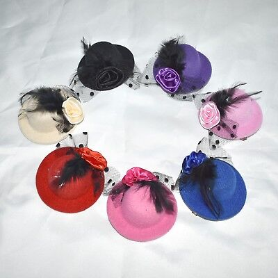 Mini Cappello con Rose *Fascinator* Molletta Capelli *Copricapo* Capelli Gotico