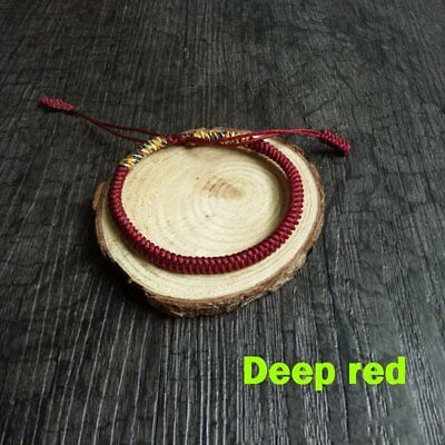 Adjustable Handmade Man Woman Lovers Weave Red Rope Bangle Bracelet Jewelry Gift