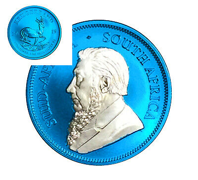 2019 South Africa Krugerrand Silver Ounce 1 OZ Space Blue Edition  Sud Afrika