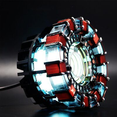 LED Powered Light Arc Reactor Men Heart DIY Kit Lamp Model Chest USB Movie Props