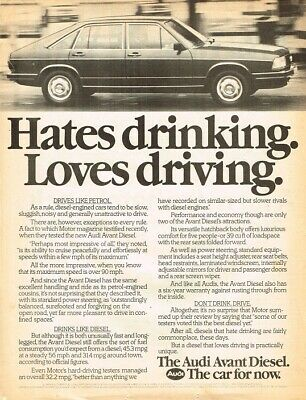 1980 Audi Avant Diesel (UK, 1pg.) Advertisement