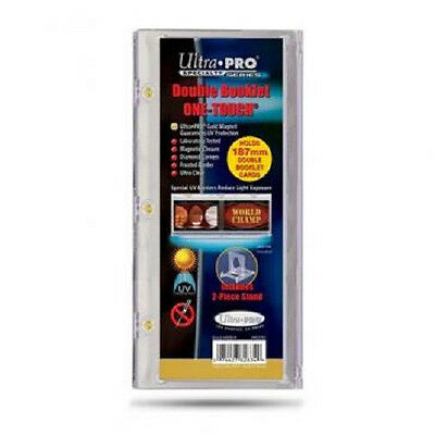 Ultra Pro Double Booklet One Touch Holds 187mm with Stand UV Protect New