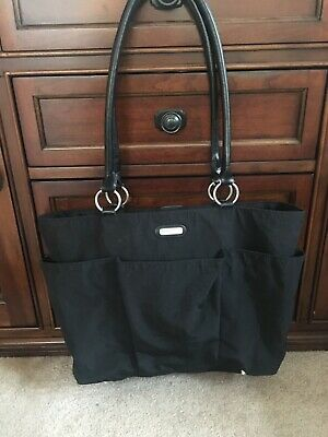 Baggalini Black Tote Bag Travel Purse  Carry On