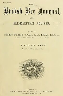 89 Old Books British Bee Journal & Bee-keepers Adviser, American Apiculturist