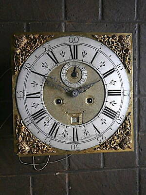 C1730 8 day LONGCASE GRANDFATHER CLOCK DIAL+movement 12X12  FRA DORRELL  of LOND