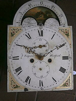 C1790  8 day LONGCASE GRANDFATHER CLOCK DIAL+movement 12X16+1/2
