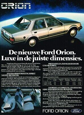 1983 Ford Orion (NL, 1pg.) Advertisement