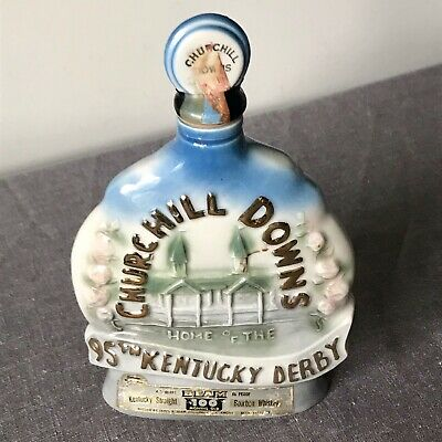 95th Kentucky Derby Jim Beam Decanter Run for Roses Bottle Churchill Downs 1969