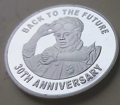 Back to the Future Silver Coin Delorean Time Travel Machine 80s Retro Amazing US