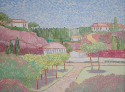 Original Helen Cuthbertson Impressionist Landscape Oil Painting In Pastel Shades