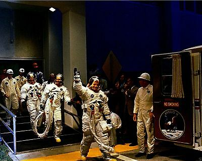 APOLLO 11 ASTRONAUTS LEAVING FOR LAUNCH COMPLEX 39A EP-454 8X10 NASA PHOTO