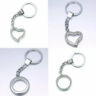 DIY Family Gifts Living Locket Memory Floating Charm Magnetic Wish Key Chain Hot