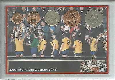 Arsenal Vintage F.A FA Cup Final The Double Winners Retro Coin Fan Gift Set 1971