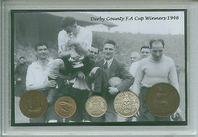 Derby County (The Rams) Vintage F.A Cup Final Winners Coin Present Gift Set 1946