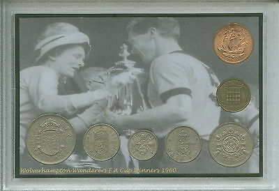 Wolverhampton Wanderers Wolves Vintage F.A Cup Final Winners Coin Gift Set 1960