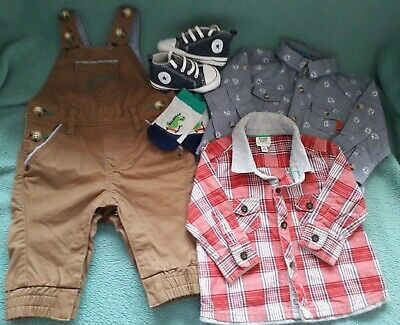 Baby Boys ClothesTed Baker Plus Converse  Trainers Size 3 Crib Bundle Age 0/3M