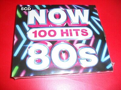 NOW 100 HITS 80's 5 CD SET NEW OUT SEALED