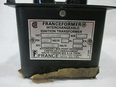 Franceformer 10000 Volt #1297 ignition transformer