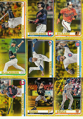 2019 Topps S1 Parallel Walgreens Yellow #42 EDWIN ENCARNACION Indians