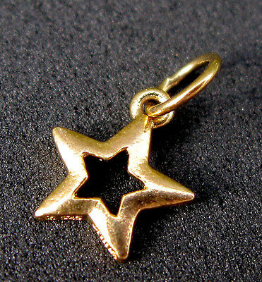 RARE Vintage Estate 18K Gold Star Pendant Charm Not Scrap NICE Antique Sterling