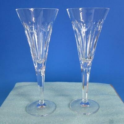 Waterford Crystal - Millennium Love - 2 Toasting Champagne Glasses - 9¼ inches