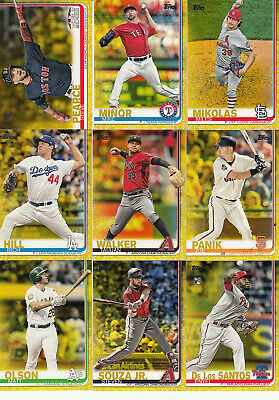 2019 Topps S1 Parallel Walgreens Yellow #275 STEVE PEARCE Red Sox