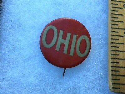 "RARE VINTAGE ANTIQUE 1920's,1930's OHIO STATE ""OHIO""  FOOTBALL PIN,BUTTON MINT"