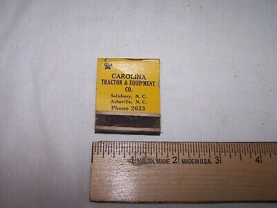 Vintage CAROLINA TRACTOR & EQUIPMENT Caterpillar Matchbook SALISBURY ASHVILLE NC