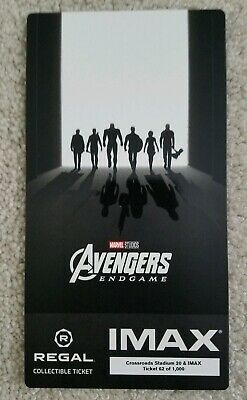 Avengers Endgame Week 2 IMAX Regal Collectible Ticket, movie theater only