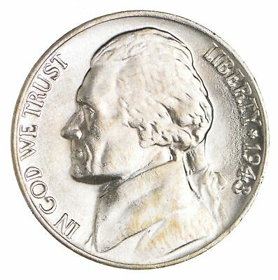 5c BU Unc MS 1943-P Jefferson WARTIME Silver Nickel *003