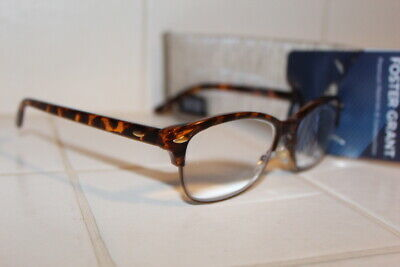 Foster Grant Cleo Readers Reading Glasses +3.25 W/Case Tortoise Womens Trendy Nw