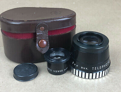 SUN Auxiliary set Telephoto Lens KIT Model 66 for TLR Cameras-CLEAN