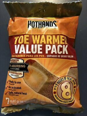 HotHands Adhesive Toe Warmer Value Pack of 7 Pairs