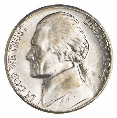 5c BU Unc MS 1944-S Jefferson WARTIME Silver Nickel *005