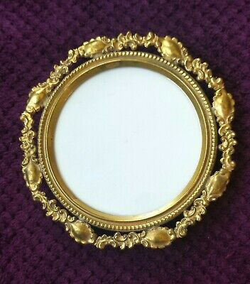 Antique FRENCH ITALIAN Ornate Round Gold Gilt Standing PICTURE FRAME
