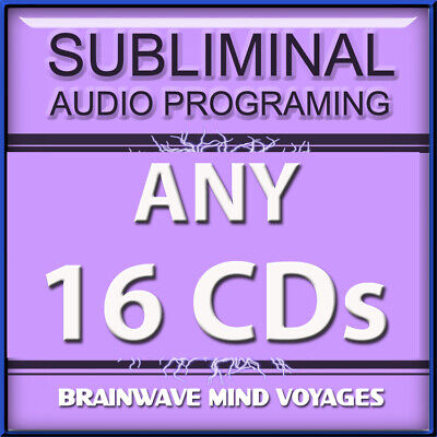 ANY 16 SELF IMPROVEMENT CDs Subliminal Hypnosis Hemi Mind SYNC YOUR BRAIN WAVES!