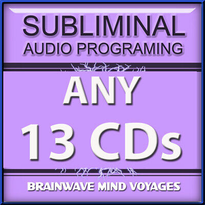 ANY 13 SELF HELP CDs Subliminal Hypnosis Works PROGRAM YOUR MIND While You Sleep