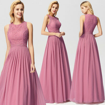0904ffa14d5a Ever-pretty US Applique Long Formal Evening Party Dress Lace Cocktail Prom  Gown