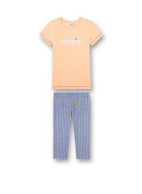 Sanetta Girls Pajamas Set short Children's 2-tlg., 140-176 Apricot Blue