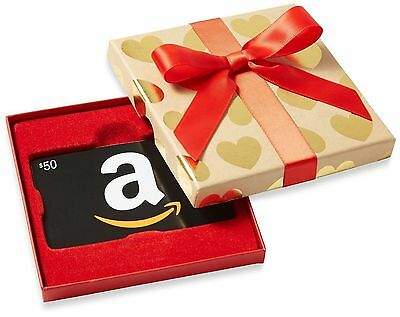 $50 NEW AMAZON Gift Card Ships FAST Guaranteed by Paypal w/ NO Worries