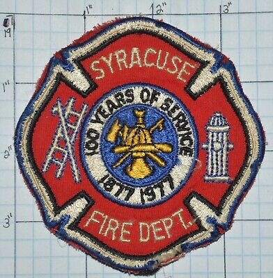 New York, Syracuse Fire Dept Patch