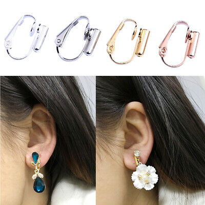 9c752a086 1 Pair DIY Clip-on Earring Converters Jewelry Findings for None Pierced Ears