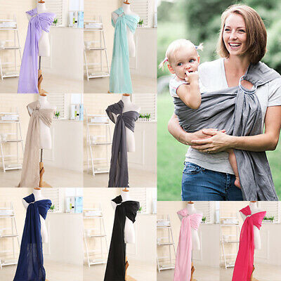 Newborn Baby Kids Carrier Ring Holder Sling Wrap Outdoor Travel Pouch Adjustable