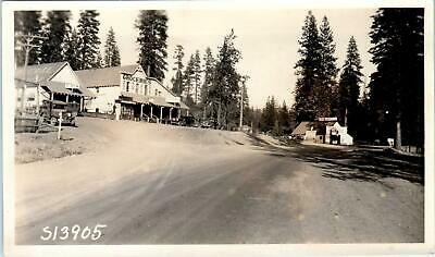 MINERAL, CA  Photo  SHELL GAS, GROCERY STORE, GARAGE  Soda Fountain 1928 Cars