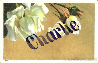 Names Charlie Antique Postcard Vintage Post Card