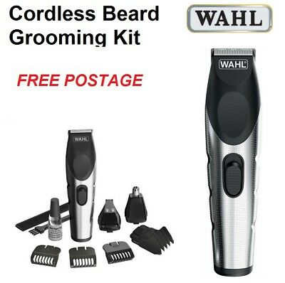 Wahl Beard Clipper Trimmer Grooming Kit Mens Cordless Electric Hair Shaver Set