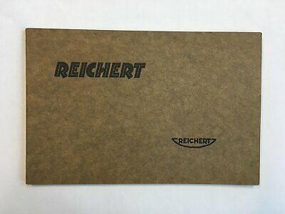 Vintage Reichert Metallurgical Microscopes catalogue 1930 /  Mikroskop Katalog