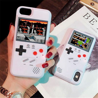 Retro Color Screen Game Play Classic Tetris Phone Case for iPhone 7 8Plus XS MAX