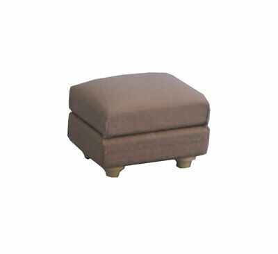 1/12 Streets Ahead Dolls House Grey Traditional Footstool DF1571